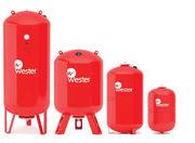 Баки расширительные мембранные 8-1000 литров Wester WRV для отопления